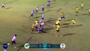 VIDEO: Aussie U20s player gets absolutely nutted by Fijian beast wing