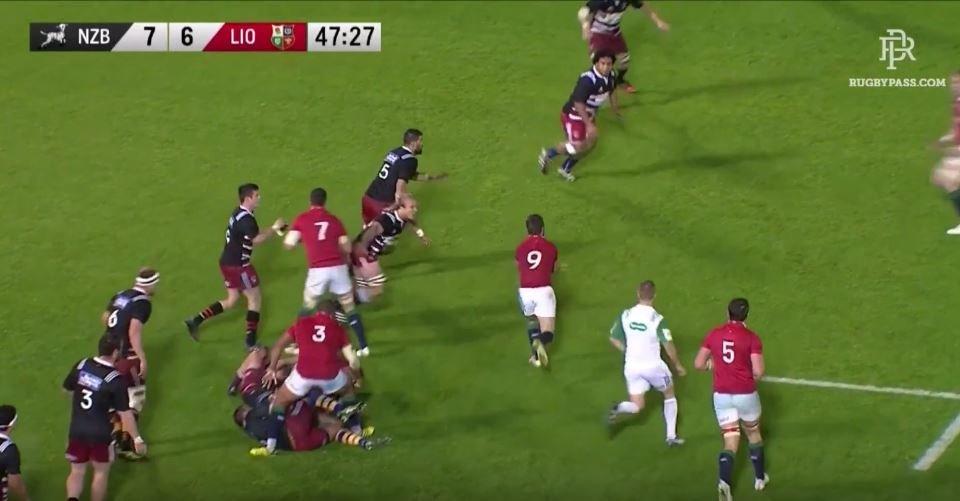 WATCH: Alun Wyn Jones gets cuts in half by NZ Barbarians hooker BUT gets revenge