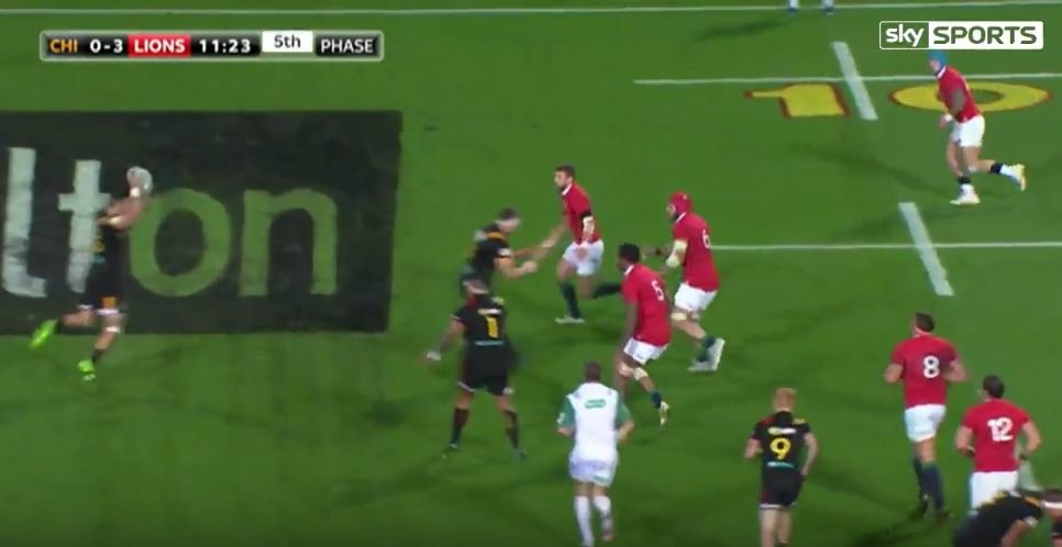 You may have missed this superb Courtney Lawes tap tackle