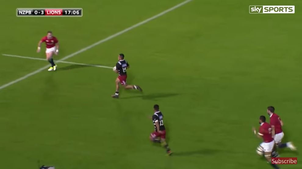 This brilliant piece of defensive play from Falatau saves Lions blushes