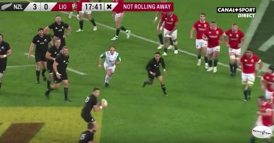 Blatant forward pass gifts All Blacks first try