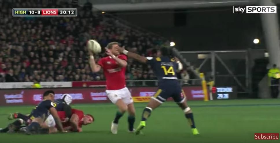 Great hands put Jonathan Joseph in for Lions try