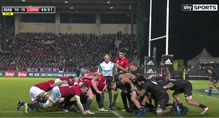 Monstrous Lions scrum dominates feeble Maori All Black pack