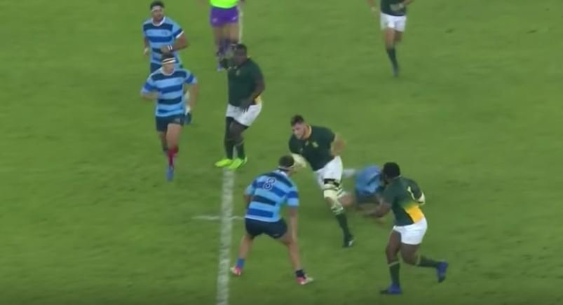 Loosehead Ox Nche shows some ridiculous acceleration for prop try