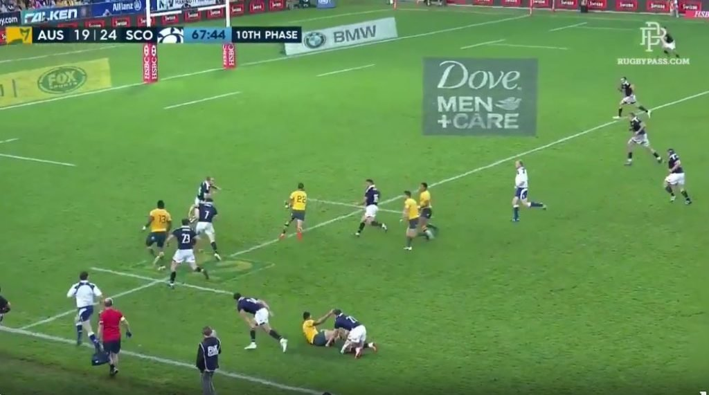 WATCH: Quade Cooper throws felonious pass that almost ruined Scotland