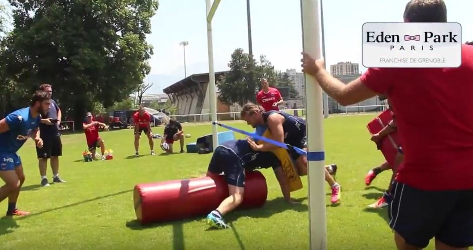 Grenoble have a great drill for maintaining low body position at rucks