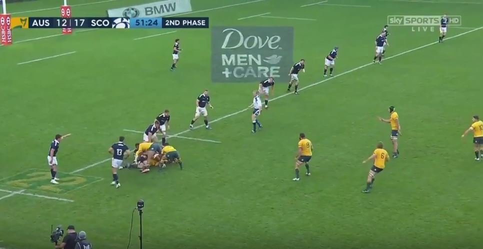 VIDEO: A quick example of Scotland's solid defensive systems against Australia