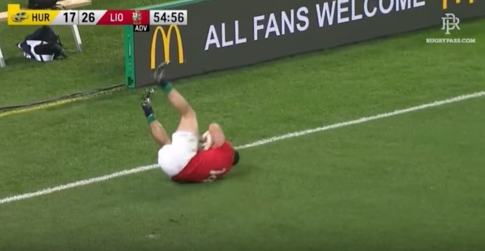 WATCH: Did Jordie Barrett get away with a shoulder to Leigh Halfpenny's head?