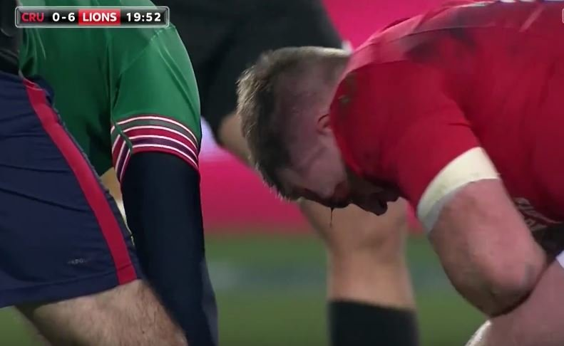 Stuart Hogg suffers horror friendly fire head knock at the hands of Conor Murray