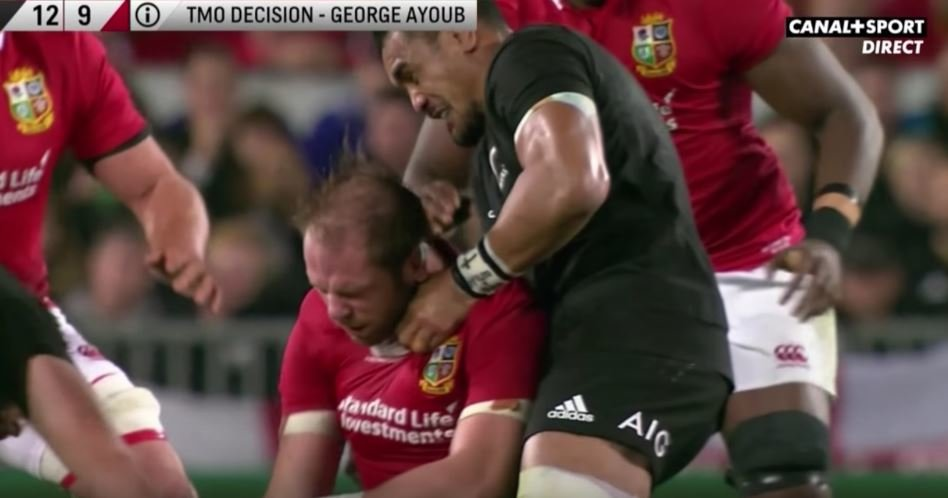 WATCH: Jerome Kaino knocks 6'6, 120kg AWJ senseless with 'no speed and no force'