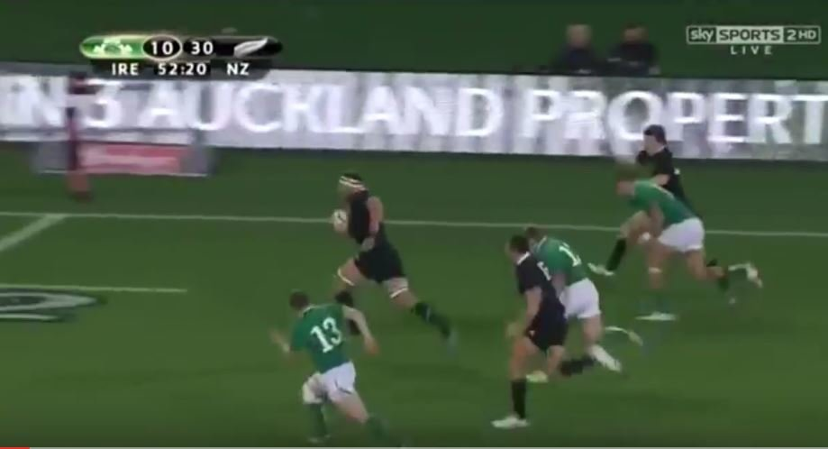 Throw back to when Brian O'Driscoll made Kieran Read look like an infant