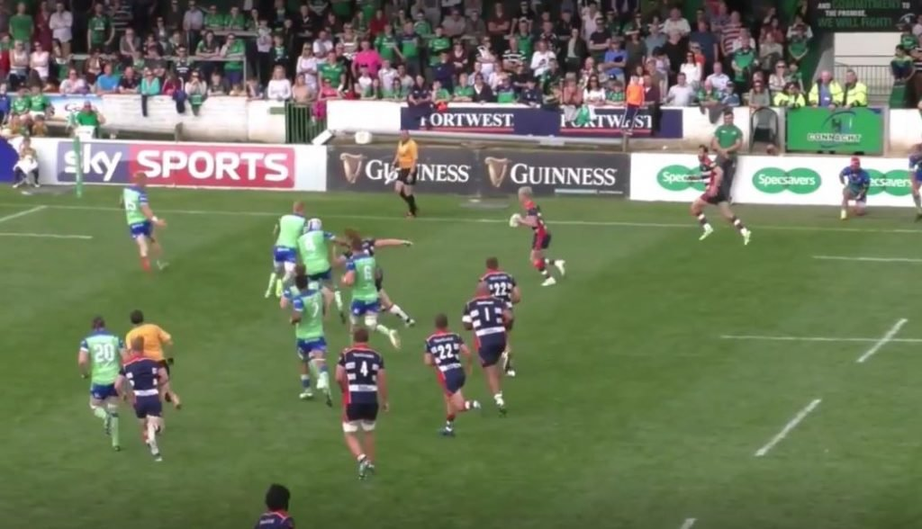 Connacht's defence gets shredded by England U18 tyro Matt Protheroe