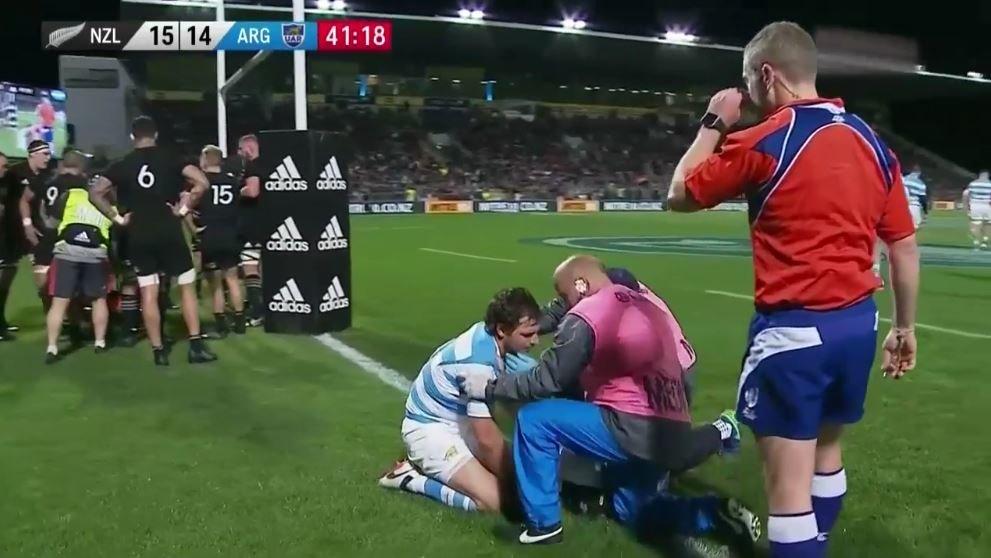 VIDEO: Nasty Dane Coles late hit injures Sanchez as he scores