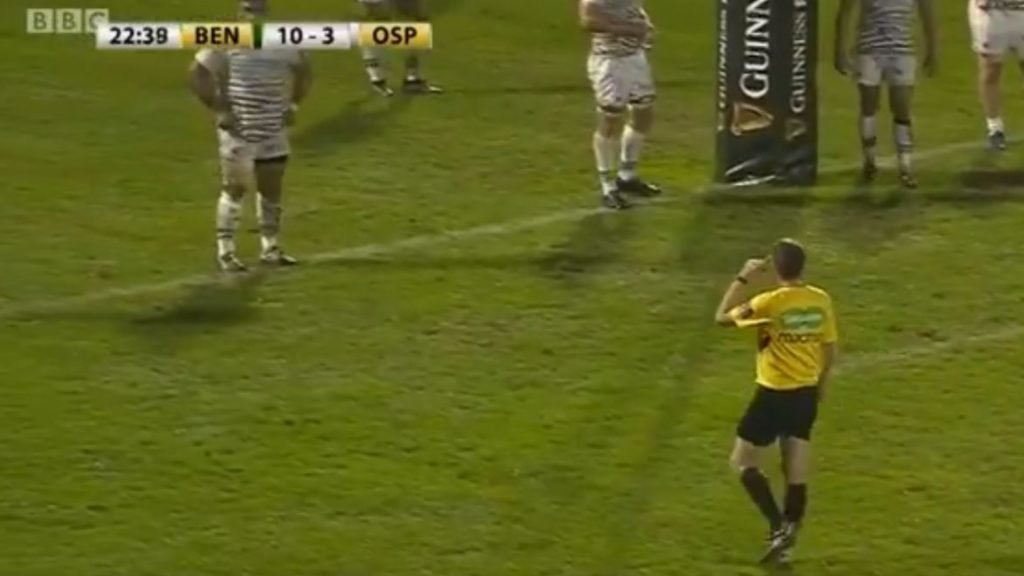 Watch: Keelan Giles charges down a penalty kick for reasons only he will ever know