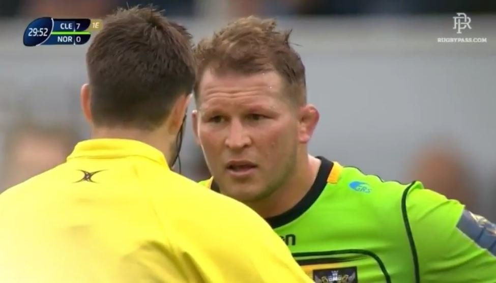 VIDEO: Dylan Hartley binned for 'accidentally' smashing prop's face off