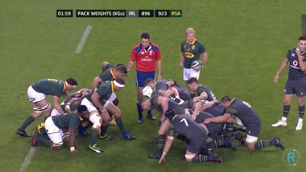 SCRUM BATTLE: Watch Ireland and South Africa's titanic war for dominance