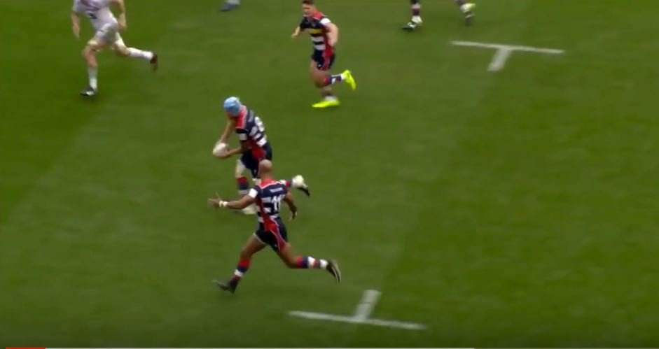 VIDEO: Tom Varndell has thrown his second 'miracle offload' of the season
