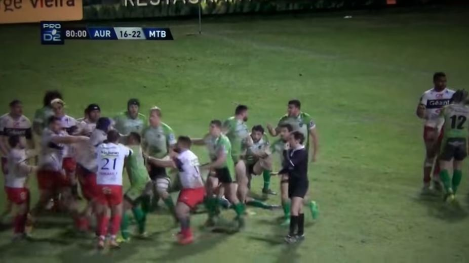 On the final whistle, these players had no time for hand shakes