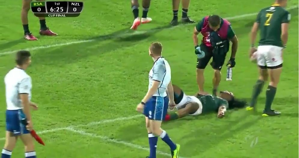 All Blacks 7s player all but decapitates innocent Blitz Bok