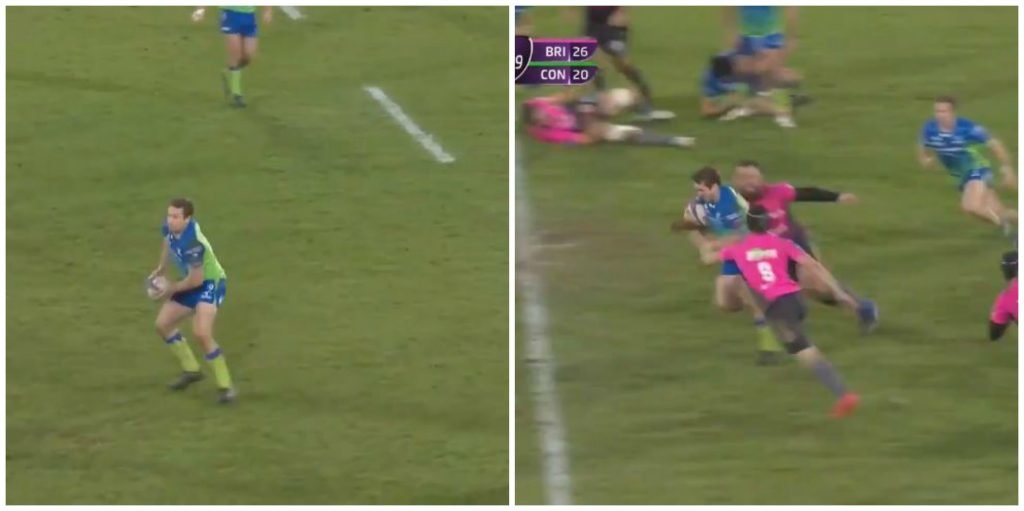 WATCH: Jack Carty sells 2 outrageous dummies during 50m try