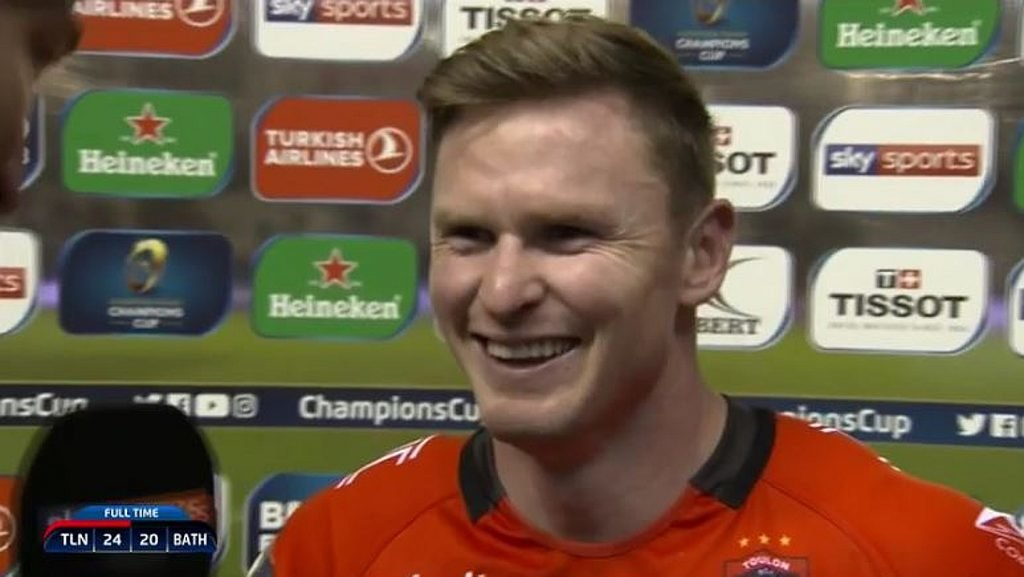 VIDEO: Chris Ashton's brilliant postmatch response to THAT horror kick