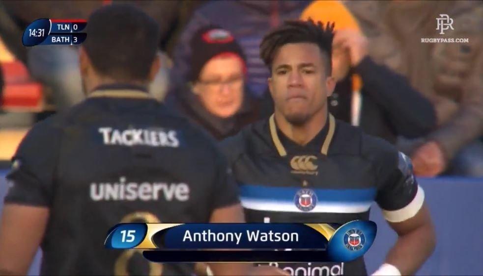 WATCH: Aled Brew swots aside Josua Tuisova to set up Anthony Watson