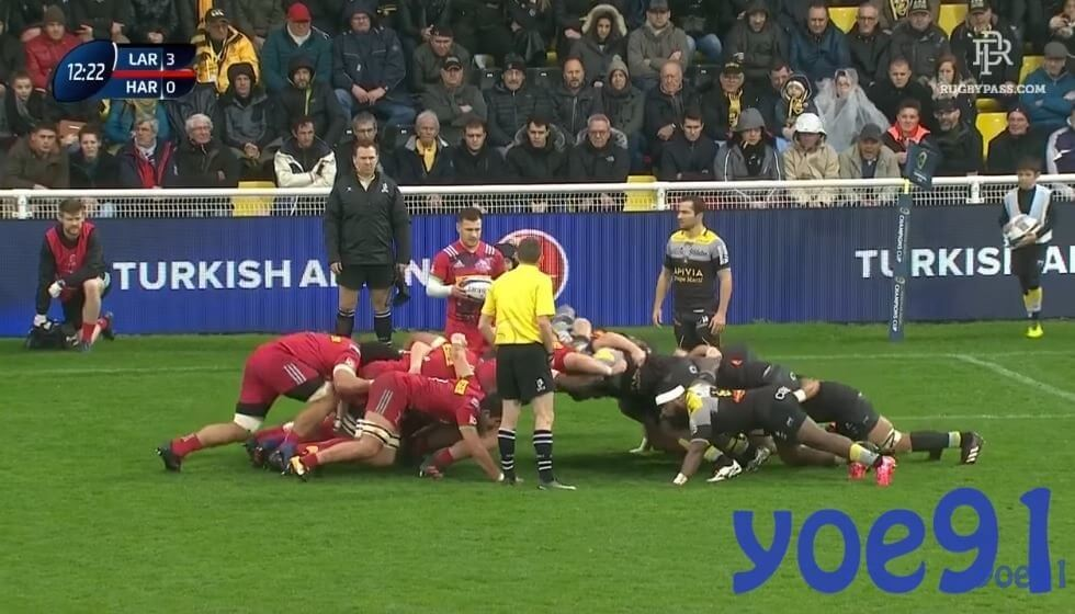 LaRochelle show just how frightening their pack is, demolishing Quins up front