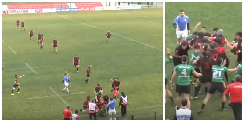 WATCH: Georgian rugby squabble looks to have ended, then escalates massively