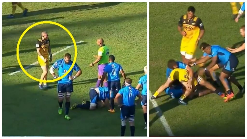 FOOTAGE: Ref mic picks up TJ Perenara's revolting comments to ref in 2017
