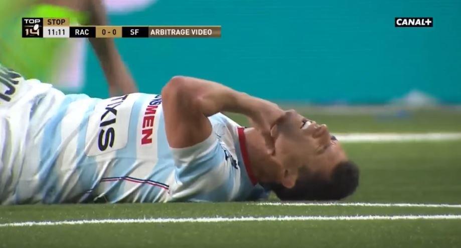 VIDEO: Dan Carter suffers brutal neck injury in France