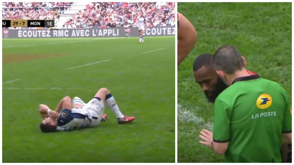 VIDEO: Romain Poite makes great call on Semi Radradra's slightly late, slightly high shot