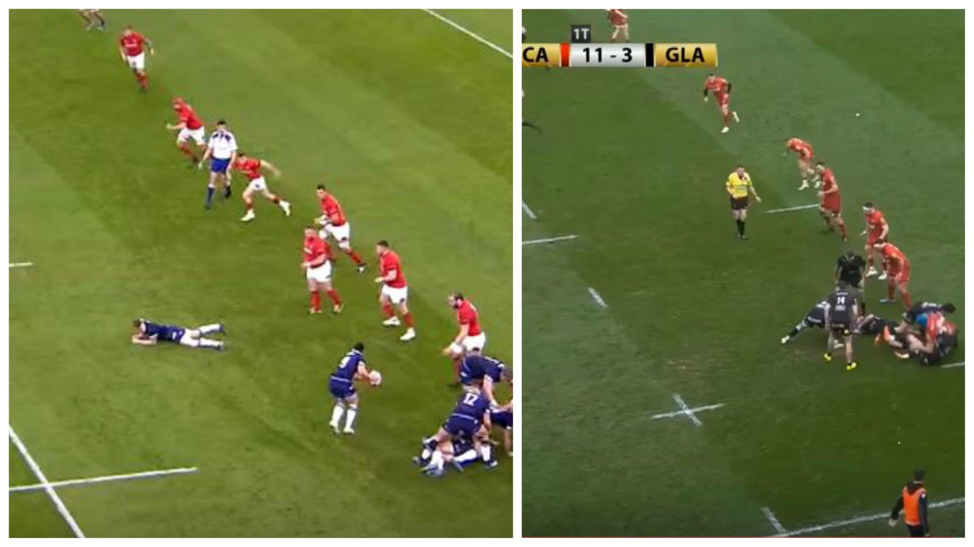 CHILLING: Ali Price and Gareth Davies recreate 'an IDENTICAL' intercept try from 6 Nations in Pro14