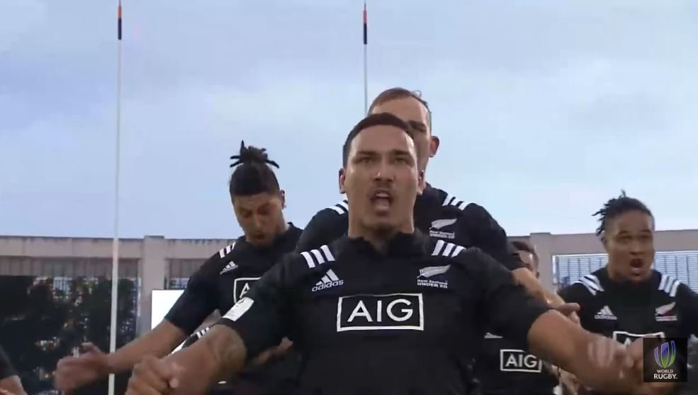 FOOTAGE: Proud Japan players smile during NZ U20s' incoherently aggressive Haka