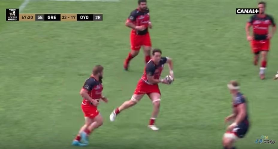 HUGE shot from former All Black 7s player sets up try in playoff match