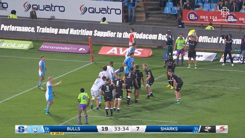 VIDEO: Sharks pull off trick lineout move that used 'The Beast' as distraction