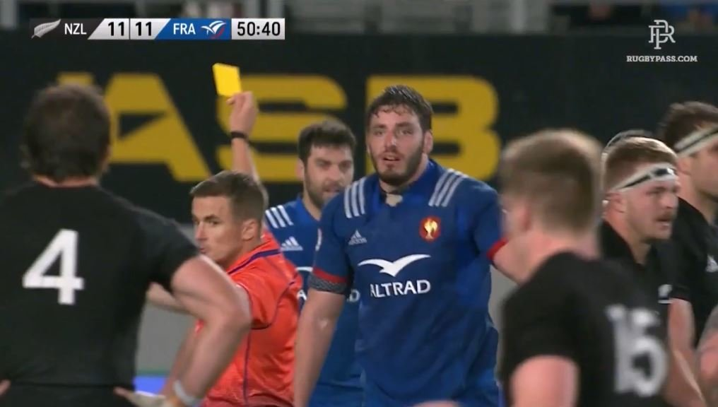 FOOTAGE: Ref ignores All Blacks yellow/red card offences just minutes after binning Frenchman for much less