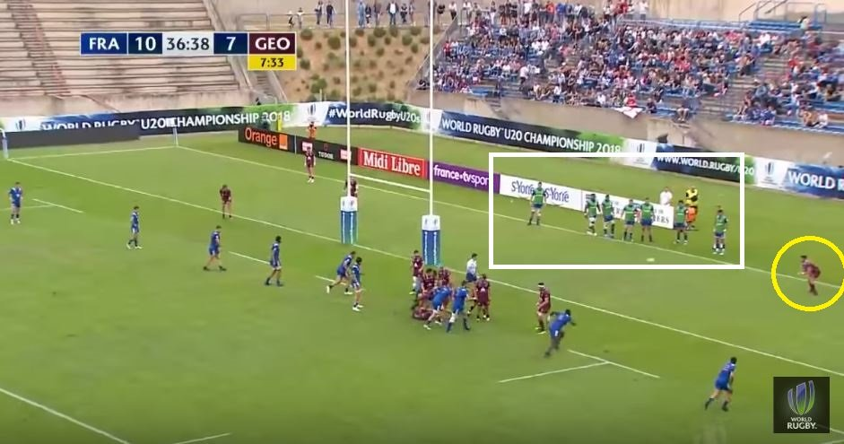 WARNING: Georgia U20s can run the ball...check out this exit