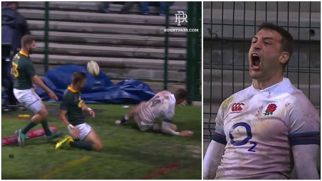 SHOCKING: Chilling video which captures Jonny May's try celebration will scar you for life