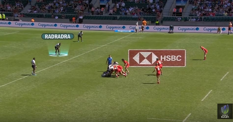 Semi Radradra steps on the gas from 80 metres out