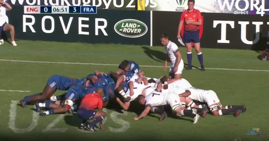 VIDEO: France U20s scrum destroying both New Zealand and England to an appropriate soundtrack