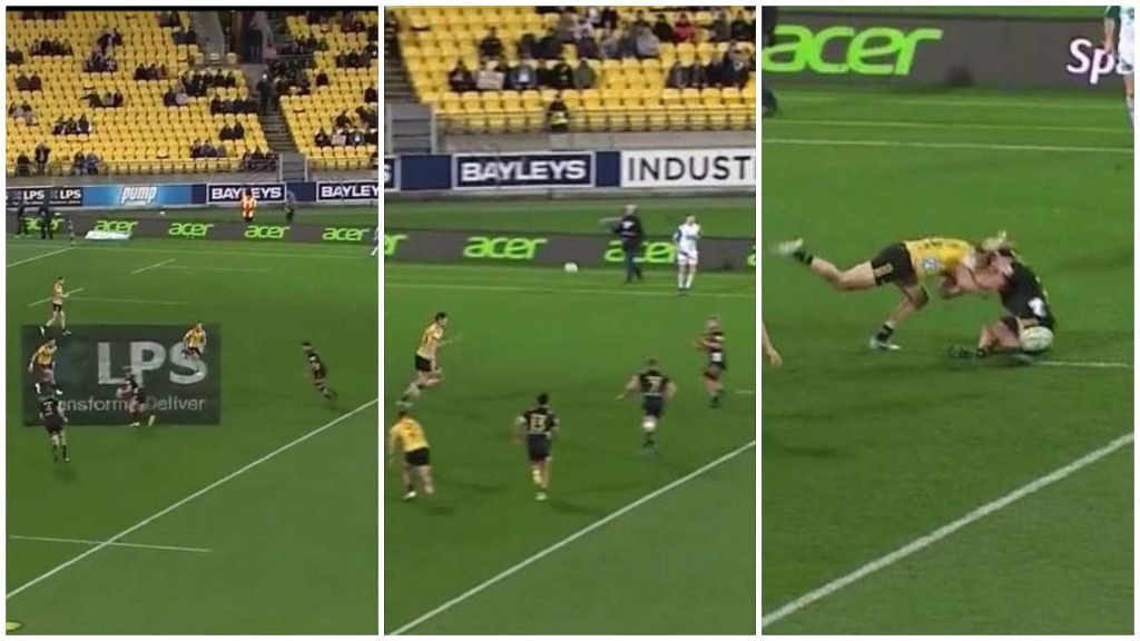 VIDEO: Jordie Barett lines up and KING HITS flanker after malevolent DMac hospital pass