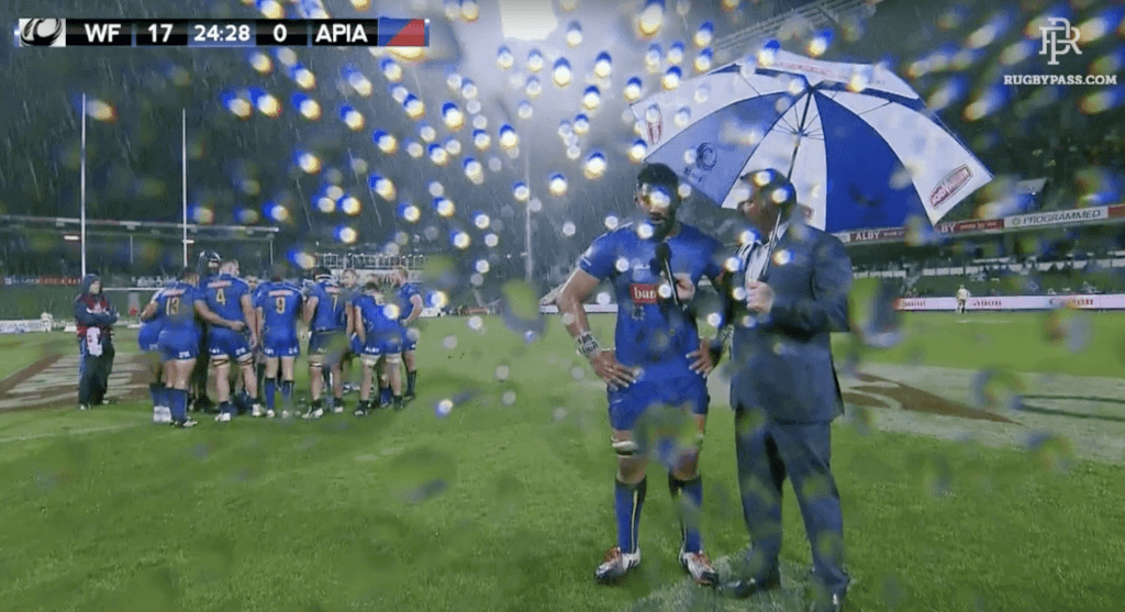 WATCH: Players repeatedly forced to give post try interviews in World Series Clash between Samoa and Western Force