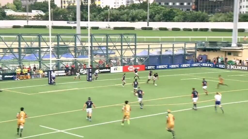 WATCH: Hong Kong player knocked clean out by brutal Cook Islands hit