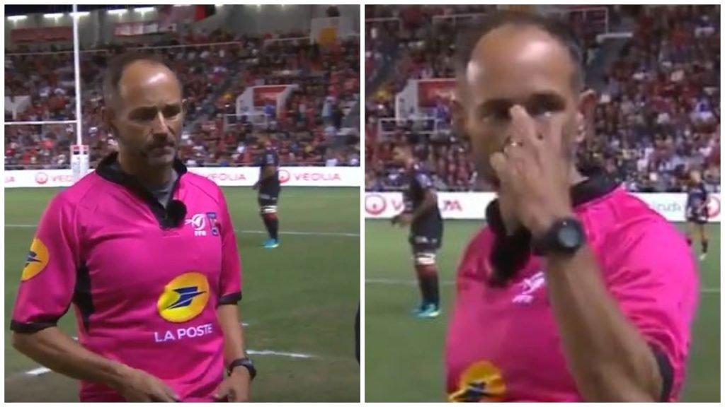 Toulon PA tries to control Romain Poite - bad idea