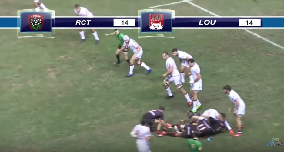 VIDEO: Charlie Ngatai scores his first try for Lyon and it's from 55 metres out
