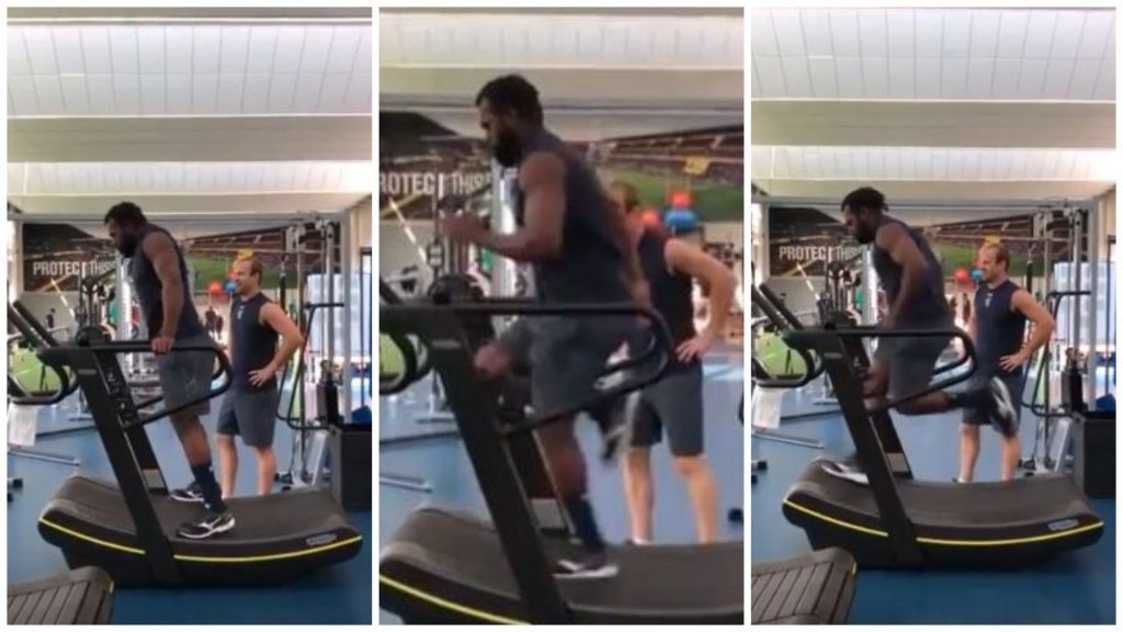 FOOTAGE: Raka running on a threadmill is a frightening sight