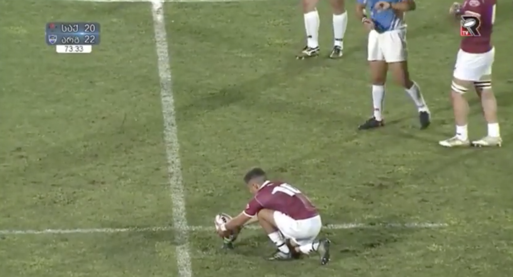 WATCH: Fly-half proves Georgian Gonads are made of STEEL after nailing match winner from own half
