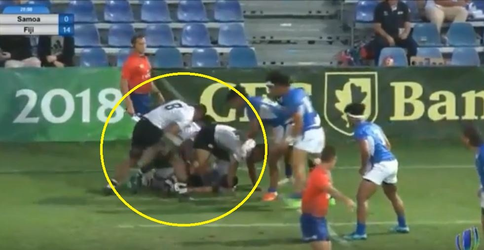 FOOTAGE: Fijian U20s dummy at a ruck fools camera man and you'll have to watch several times to see it