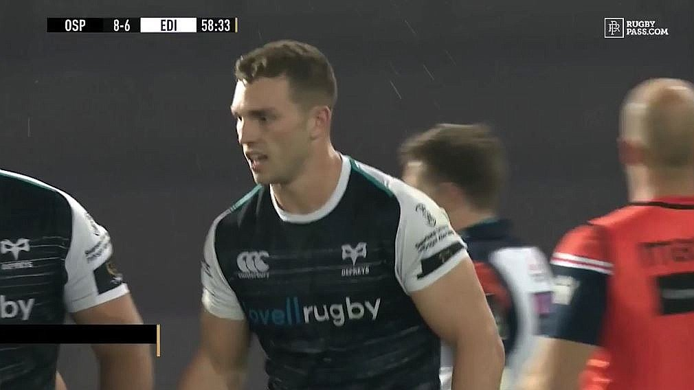 FOOTAGE: The beast is back - George North scores 2 tries in dream Ospreys PRO14 debut