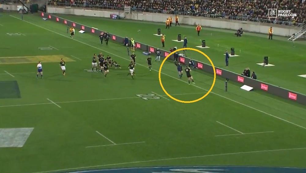 FOOTAGE: Jordie Barrett's monumental McFail humiliates the All Blacks in worst possible way